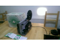 Super 8 film projector boxed with instructions