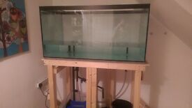 "48""x24""x24"" ND Aquatics Drilled Aquarium With Plumbing"