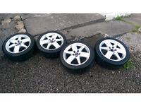 """Used Saab Vauxhall Astra Alloys Set 17"""" Tyres 225/45/17 5x110 £150"""