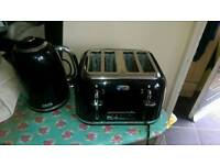 Breville kettle and toaster black