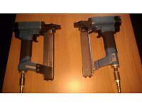 Compressor staple guns ,used, BeA brand, Max 8bar/120psi.