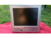 """LCD TV Silver - 15"""" with stand"""