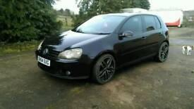 v.w. Golf GT TDI 2005 black 2 litre 5 door hatchback