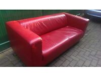*REDUCED PRICE* Red Ikea Klippan 2 Seater Sofa, good cond, £50