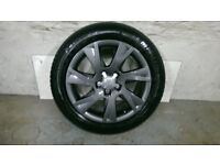 ALLOYS X 4 OF 17 INCH GENUINE AUDI A5 FULLY POWDERCOATED IN A STUNNING NEW SPEC OF ANTHRACITE IODINE