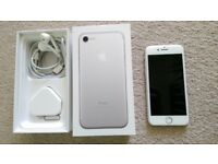 Iphone 7 Silver 32 GB Excellent condition