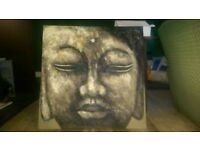 4ft by 4ft painting of Buddha