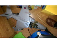 Huge toy plane with action figure