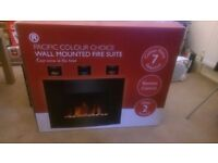 Brand new in box colour changing electric fire