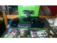 xbox one console+controller+5 games