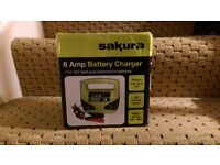 12v 6AMP CAR VAN LAWNMOWER BOAT LEISURE BATTERY CHARGER