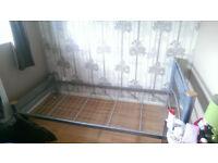 Metal bed frame, single bed