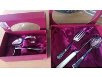 Antique Angora cutlery set and tea set