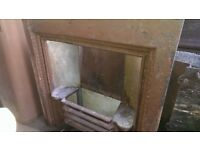 Cast Iron fireplace with grate. 3 available.
