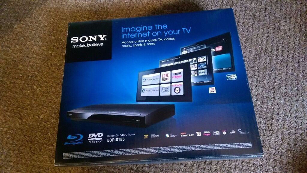 SONY SMART BLU-RAY DVD Xvid FULL HD 1080P USB PLAYER BDP-S185 (BOXED) IP838