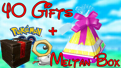 Pokemon Go 40+ Gifts For Experience 120,000-240,000 EXP!!! + 4X Meltan Box bundl