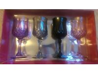 Cristal darques set of glasses