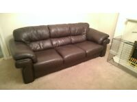 large brown leather for sale- reduced