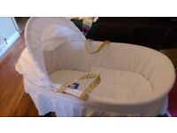 Brand new lacy Clare de line Moses basket