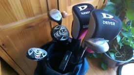 Wilson, Spalding, Ultima Right Handed Clubs & Bag, Great Condition
