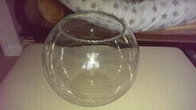 large glass goldfish bowl