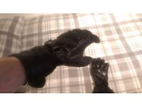 GORE-TEX® Motorcycle gloves / X-Trafit Technology / Black / Size - XS / FREE QUICK DELIVERY