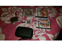 black nintendo ds lite in excellent condition