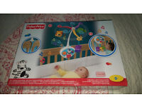 Fisher Price 2 in 1 Friends Activity Cot Mobile Brand New