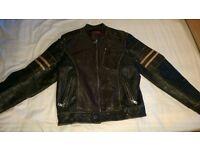 Firetrap Distressed Leather Jacket Medium (Wolverine style)