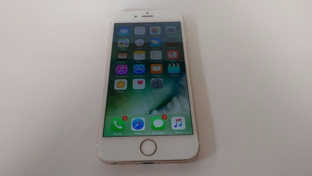 iPhone 6 16GB White Gold Locked to O2 Good Condition