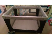 Hauck travel cot with extra mattress excellent condition