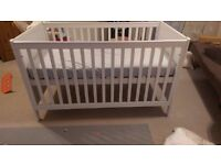 Cot Bed with mattress - Adjustable height and sides from Mothercare