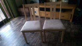 Julian Bowen Rufford Dining Chairs x 2 NEW