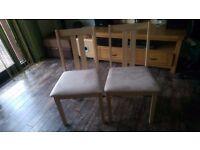 Julian Bowen Rufford Dining Chairs x 2 NEW