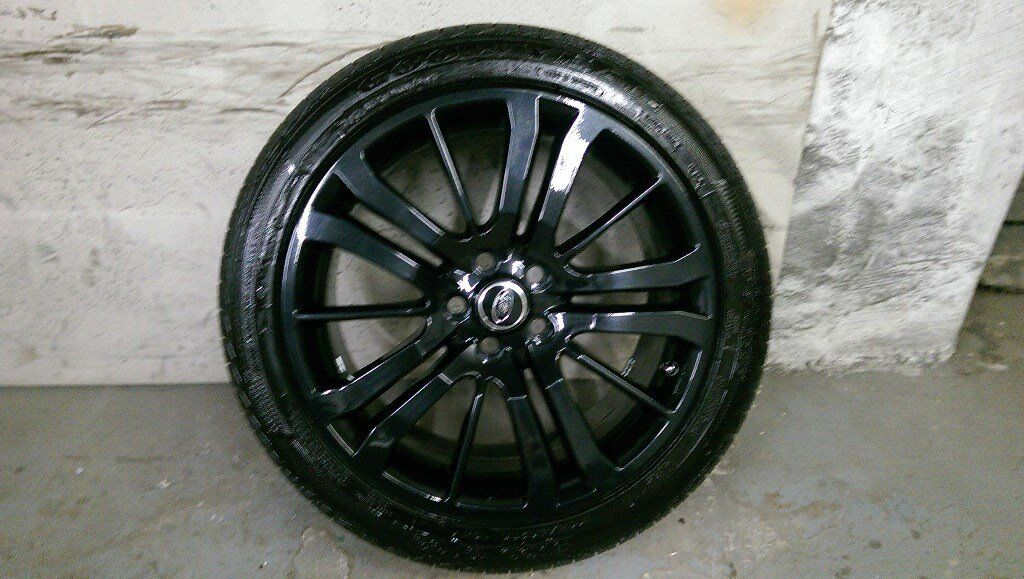ALLOYS X 5 OF 20 INCH GENUINE RANGEROVER/ORDISCOVERY HSE FULLY POWDERCOATED IN STUNNING BLACKSPARKLE