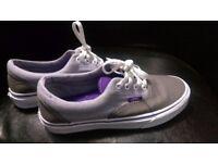 Unisex UK 6 Vans Grey/Purple