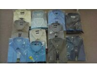 REDUCED - BRAND NEW mens shirts / some with ties all sealed 17 inch