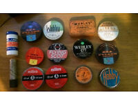 nice vintage collection of tins for the collector