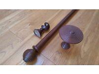John Lewis Jonelle 1500mm oak curtain rail set ( 3 sets available). Excellent condition.