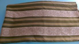 Curtain or upholstery fabric - Green and Cream