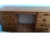 Double solid pine dresser/desk