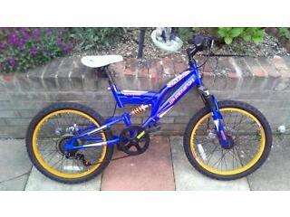 Boys muddyfox bike for sale, disk brakes, full suspension, gears