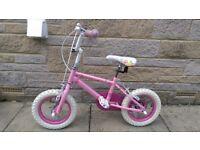 """Girls 12"""" princess bicycle"""