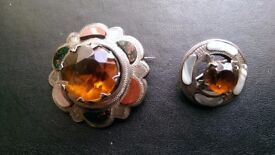 Two Scottish Agate Brooches.