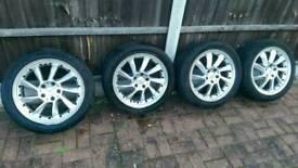 "Mercedes rare propeller alloy wheels 17"""