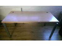 Office Desk German design LGA Nurnberg furniture heavy wood with metal legs