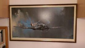 Barrie AF Clarks Spitfire Framed Picture