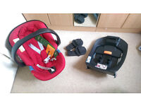 Cybex Aton Car Seat with Isofix Base and Pram Adapters