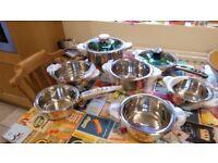 10 Piece Professional Swiss Cookware Set