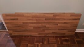 Bushboard kitchen worktop - natural block walnut laminate